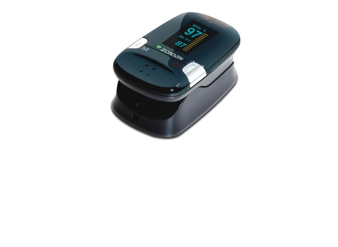 Oxímetro de pulso para el dedo con pantalla a color