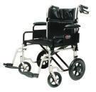 Silla de ruedas de traslado sobrepeso color plata marca everest