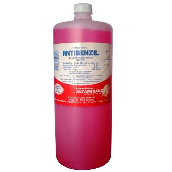 Antibenzil concentrado rojo 1L.