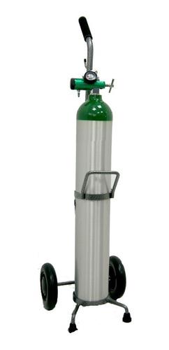 Tanque De Oxigeno 682 Lts, Regulador Corto, Carrito, Canula