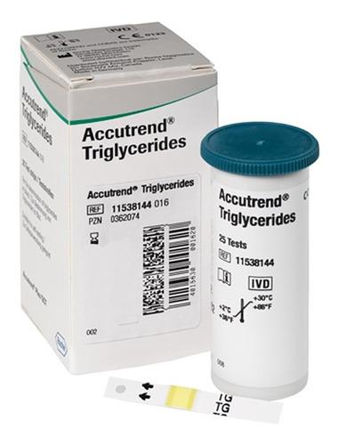 Tiras Reactivas Para Trigliceridos Accutrend 25 Pzas