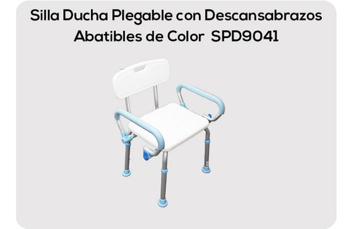 Silla Ducha C/descansa Brazos Abatibles  Medimetrics Spd9041