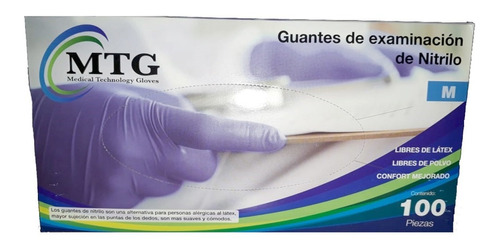 Guante De Nitrilo De Examinación Ch Md Gd Caja Con 100 Pzas