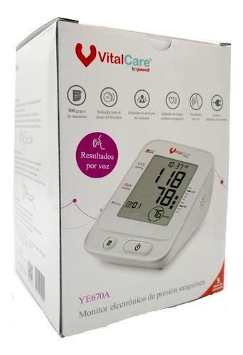 Baumanómetro Digital Para Brazo Con Voz Ye670a