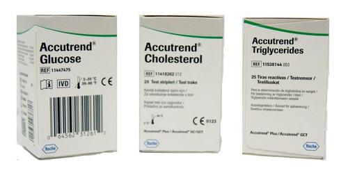 Tiras Reactivas Glucosa Colestero Trigliceridos Accutrend