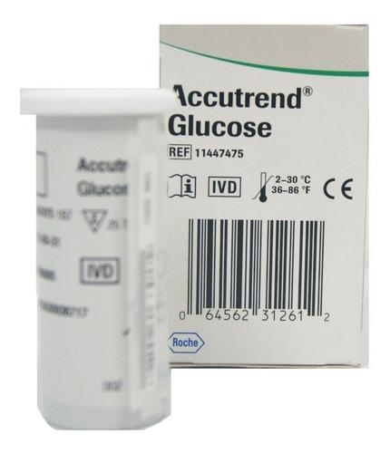Tiras Reactivas Para Glucosa Accutrend 25 Tiras
