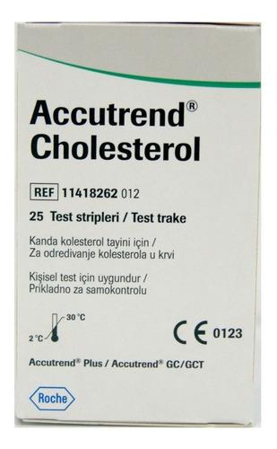 Tiras Reactivas Para Colesterol Accutrend 25 Tiras