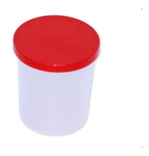 Vaso Copro De Plástico Con Tapa Hermética 120 Ml Edigar